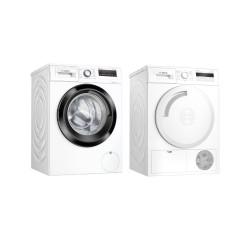 Bosch Set de lavage:  Lave-linge automatique  + Bosch Sèche-linge - Pompe à chaleur WAN28240CH+WTH83000CH