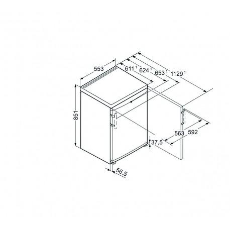 Armoire de congélation table-top avec SmartFrost Liebherr GP 1213 GP1213